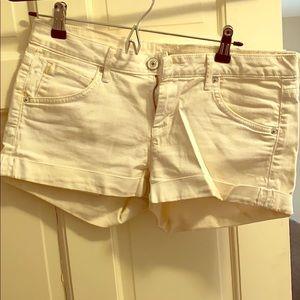 Hudson white jean shorts women's size 29